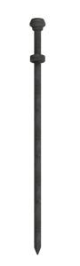 Erdnagel Typ 2 aus Stahl mit doppeltem Kopf, Ø 25 mm, Länge 700 - 900 mm (Länge: 700 mm (Art.Nr.: 322507))