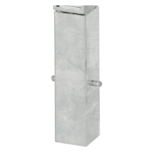 Ersatz-Bodenhülse, Stahl (verzinkt) 80 x 80 mm, für umleg- und herausnehmbare Pfosten (70x70 mm) (Ausführung: Ersatz-Bodenhülse, Stahl (verzinkt) 80 x 80 mm, für umleg- und herausnehmbare Pfosten (70x70 mm) (Art.Nr.: 14354))