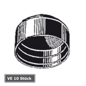 Ersatz-Rohrkappen für Rohrpfosten, VE 10 Stück (Durchmesser/Verpackungseinheit:  <b>Ø 60 mm</b>/VE 10 Stk. (Art.Nr.: ka060-ve))