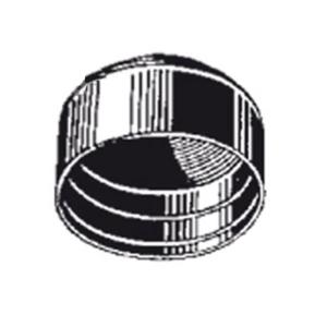 Ersatz-Rohrkappen für Rohrpfosten, VPE 10 Stk. (Durchmesser/Menge:  <b>Ø 60 mm</b> / VPE 10 Stk. (Art.Nr.: ka060-ve))