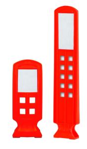Ersatz-Sichtzeichen mit Reflexstreifen, wahlweise für Höhe 280 oder 600 mm (für Sichtzeichenhöhe/Material:  <b>280 mm</b> / PU (Polyurethan) (Art.Nr.: 37128))