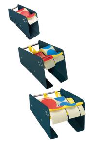 Etikettenspender, maximaler Rollendurchmesser 160 mm (Breite/für max. Etikettenbreite: 80 mm / 75 mm (Art.Nr.: 90.0802))