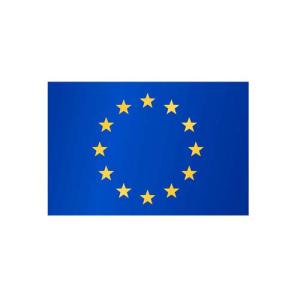 Europaflagge, Stoffqualität FlagTop 110 g / m² oder 160 g / m² (Maße (LxB)/Format/Konfektionierung/Stoffqualität:  <b>60 x 90 cm</b> (Querformat)<br>mit Seil und Schlaufe<br>FlagTop  <b>110 g/m²</b><br>für Fahnenmasten 6