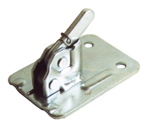 Exzenterklemme -Schalblitz- für Spanndrähte 5-10 mm, Platte 110 x 75 mm, bis 2500 kg, VPE 25 Stk. (Farbe/Menge:  <b>rot lackiert</b> / VPE 25 Stk. (Art.Nr.: 10180))