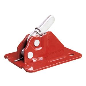 Exzenterklemme -Schalblitz-, mit Verstärkungsecke, Spanndrähte 5-10 mm, bis 2500 kg, VPE 25 Stk. (Farbe/Menge:  <b>rot lackiert</b> / VPE 25 Stk. (Art.Nr.: 10182))
