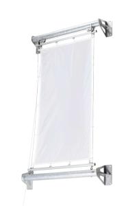 Fahnenhalter -Genius- aus Stahl, mit Hissvorrichtung (Ausführung: Fahnenhalter -Genius- aus Stahl, mit Hissvorrichtung (Art.Nr.: 36069))