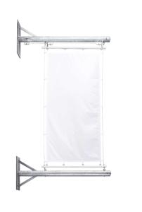 Fahnenhalter -Tactic- aus Stahl, mit Hissvorrichtung (Ausführung: Fahnenhalter -Tactic- aus Stahl, mit Hissvorrichtung (Art.Nr.: 36072))