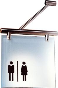 Fahnenschild -Cristallo- aus Einscheiben-Sicherheitsglas, inkl. Befestigungsmaterial (Ausführung: Fahnenschild -Cristallo- aus Einscheiben-Sicherheitsglas, inkl. Befestigungsmaterial (Art.Nr.: cr2930))