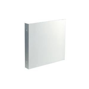 Fahnenschild Quadrat zur Decken- oder Wandmontage, für Folienschilder, neutral (Maße Folienschilder (BxH)/Montagemaß (BxHxT): 100 x 100 mm / 20 x 102 x 102 mm (Art.Nr.: 51.9562))