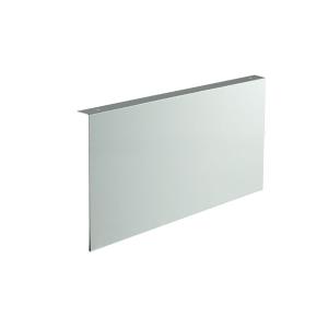 Fahnenschild Rechteck, zur Deckenmontage, für Folienschilder, neutral (Maße Folienschilder(BxH)/Montagemaß(BxHxT): 300 x 150 mm / 300 x 155 x 22 mm (Art.Nr.: 51.9555))