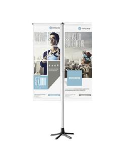 Fahnenständer -TEMPAFLAG DOUBLE-, mobil und höhenverstellbar für 2 Flaggen (Ausführung: Fahnenständer -TEMPAFLAG DOUBLE-, mobil und höhenverstellbar für 2 Flaggen (Art.Nr.: 35051))