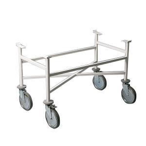 Fahrgestell für Krankentragen aus Stahl, 1060 x 700 x 570 mm (Gestell: starr (Art.Nr.: 29027))