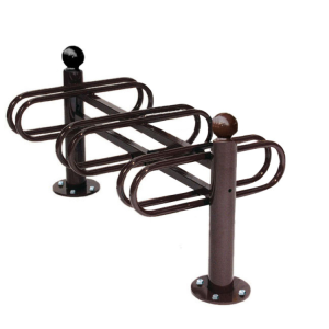 Fahrradständer -Bowl- aus Stahl, zweiseitige Radeinstellung