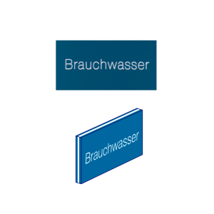Fertigschild -Thermograv®- graviert mit Wunschtext für Schilderträger aus Stahl oder Alu, zum Einschieben