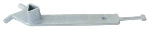 Feuerwehr-Dreikant aus Grauguss nach DIN 3223 (M12) mit Niethaken (Ausführung: Feuerwehr-Dreikant aus Grauguss nach DIN 3223 (M12) mit Niethaken (Art.Nr.: 470.40))