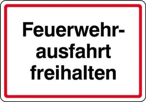 Feuerwehrausfahrt freihalten (Ausführung: Feuerwehrausfahrt freihalten (Art.Nr.: 11.2754))