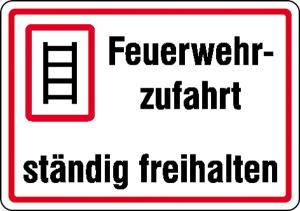 Feuerwehrzufahrt ständig freihalten (Ausführung: Feuerwehrzufahrt ständig freihalten (Art.Nr.: 11.2760))