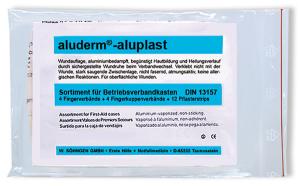Fingerverbände-Sortiment -aluderm®-aluplast-, wahlweise nach DIN 13157 und DIN 13169 (Inhalt: nach DIN 13157 (Art.Nr.: 29000))