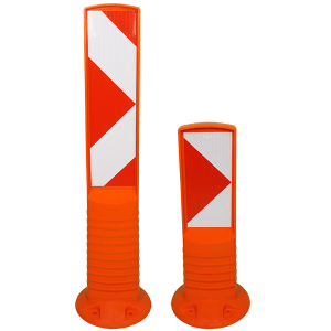Flexibake aus Kunststoff, Höhe 450 oder 750 mm, rechts- oder linksweisend, überfahrbar (Höhe:  <b>450 mm</b>/linksweisend (Art.Nr.: 32966))