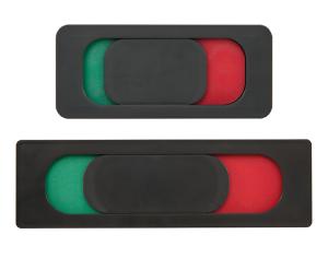 Frei- / Besetzt-Anzeige aus Kunststoff, zum Verkleben (Maße (LxBxT): 80 x 35 x 5 mm (Art.Nr.: bo9021))