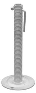 Fußspindel für Kabelüberführung, mit Knebelschraube (Ausführung: Fußspindel für Kabelüberführung, mit Knebelschraube (Art.Nr.: 24345))