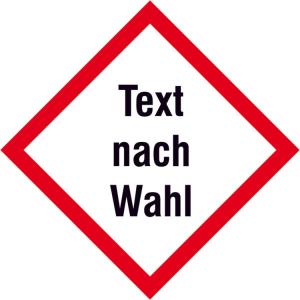 GHS-Gefahrstoffschild -Protect- selbstklebend, mit Wunsch-Piktogramm (Maße (BxH): 50 x 50 mm (Art.Nr.: 39.0051))