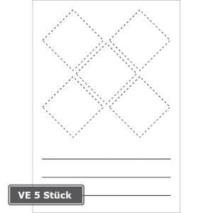 GHS-Symbole zur Selbstbeschriftung, VE 5 Stück (Maße (BxH)/Verpackungseinheit:  <b>70 x 100 mm</b><br>für GHS-Symbole 20 x 20 mm<br>VE 5 Stk. (Art.Nr.: 21.b1100))