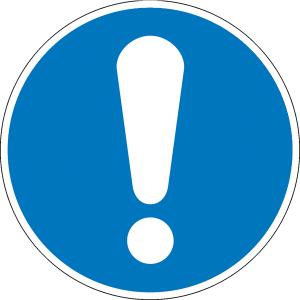 Gebotsschild, Allgemeines Gebotszeichen (Maße Ø: 100 mm (Art.Nr.: 21.0633))