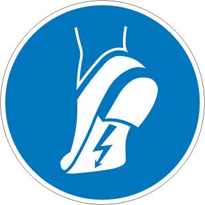 Gebotsschild, Leitfähiges Schuhwerk tragen (Ausführung: Gebotsschild, Leitfähiges Schuhwerk tragen (Art.Nr.: 21.a7480))