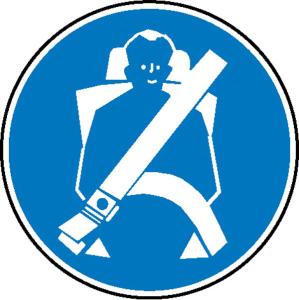 Gebotsschild, Sicherheitsgurt anlegen (Ausführung: Gebotsschild, Sicherheitsgurt anlegen (Art.Nr.: 21.0577))