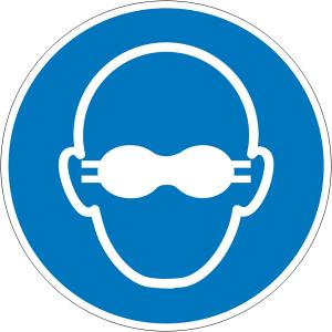 Gebotsschild, Weitgehend lichtundurchlässigen Augenschutz benutzen (Ausführung: Gebotsschild, Weitgehend lichtundurchlässigen Augenschutz benutzen (Art.Nr.: 21.a7475))