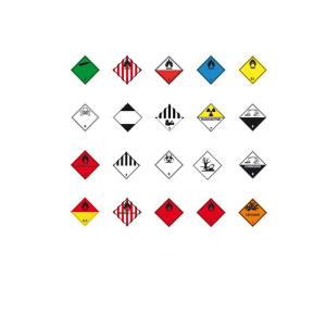 Gefahrenetiketten / Verpackungskennzeichnung 250 x 250 mm aus PVC-Folie, selbstklebend (Motiv/Gefahrstoffklasse/Farbe:  <b>EXPLOSIVE</b><br>Klasse 1 / orange (Art.Nr.: 21.2264-140))