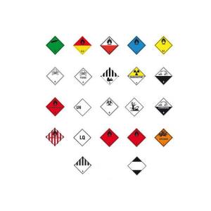 Gefahrenetiketten / Verpackungskennzeichnung auf Rolle, 100x100mm, PE-Folie selbstkl., VPE 500 Stk. (Motiv/Gefahrstoffklasse/Farbe/Menge:  <b>TOXIC GAS</b><br>Klasse 2 / weiß / VPE 500 Stk. (Art.Nr.: 31.2260-129))