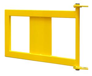 Geländer-Tür für Rammschutzgeländer -Empire-, Schließung manuell oder mit Gasdruckfeder (Schließung: manuell (Art.Nr.: 37564))