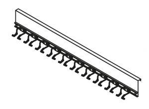 Geräteleiste für 10 Stielgeräte (Ausführung: Geräteleiste für 10 Stielgeräte (Art.Nr.: 31960))