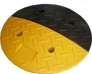 Geschwindigkeitshemmer schwarz / gelb, Ø 400 mm, Höhe 40 mm, kautschukummantelt (Ausführung: Geschwindigkeitshemmer schwarz/gelb, Ø 400 mm, Höhe 40 mm, kautschukummantelt (Art.Nr.: 12908))