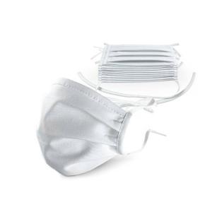 Gesichtsmaske aus Baumwolle, wahlweise mit Antibac, zum Binden oder mit Gummiband, VPE 10 Stk. (Typ/Größe/Befestigung/Menge:  <b>Typ A</b><br>normalgroß / zum Binden /<br>VPE 10 Stk. (Art.Nr.: 90.1200))