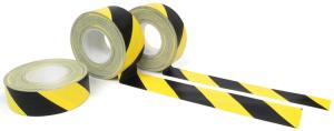 Gewebe-Warnmarkierungsband -WT-5561-, schwarz-gelb, Rolle 50 m, für vertikale Innenflächen (Breite/Richtung:  <b>50 mm</b>/linksweisend (Art.Nr.: 33953))
