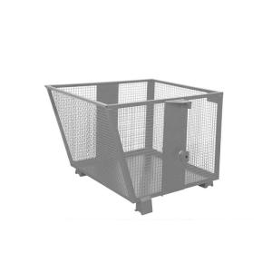 Gitterbehälter -Typ BSK-G 90-, für leichte Güter, Auskippen mit Traverse (Farbe : RAL 2000 gelborange (Art.Nr.: 38510))