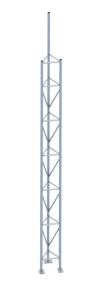 Gitterrohrmast aus Stahl, Höhe 5,35 m (Ausführung: Gitterrohrmast aus Stahl, Höhe 5,35 m (Art.Nr.: 353016))