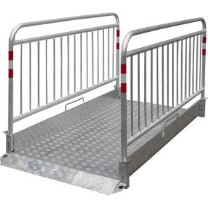 Grabenbrücke -Secure- aus Aluminium, mit Tragegriff (Länge/Gewicht:  <b>2200 mm</b> / 48 kg (Art.Nr.: 20281-s))