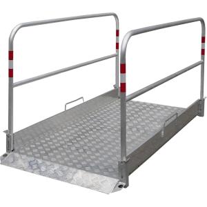 Grabenbrücke aus Aluminium, Tragfähigkeit 200 kg / m², gem. Arbeitsstätten- und ZTV-SA-Verordnung (Länge/Gewicht:  <b>1700 mm</b> / 34 kg (Art.Nr.: 36888))