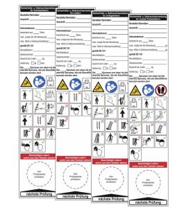 Grundplaketten und Gebrauchsanweisungen für Leitern, versch. Ausführungen (Ausführung: für Leitern (Art.Nr.: 30.c5125))