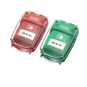 Handmelder-Abdeckung -e-Cover® klein-, batteriebetrieben, für Handmelder bis 90 x 90 mm (Ausführung/Farbe: ohne Alarm/ <b>grün</b> (Art.Nr.: 34759))