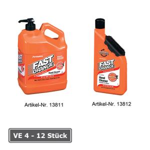 Handreiniger -Fast Orange-, VE 4 oder 12 Stk. (Variante/Inhalt/Verpackungseinheit:  <b>Flasche mit Nagelbürste</b><br>440ml, VE 12 Stk. (Art.Nr.: 13812))