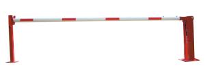 Handschranke mit Gasdruckfeder und fester Auflagestütze, Breiten 3000 - 7000 mm