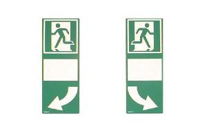 Hinterlegung für Türgriffe, grün, langnachleuchtend (Leuchtkraft / Variante: für Türklinke, nach rechts weisend (Art.Nr.: 15.7535))