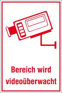 Hinweis-Kombischild, Bereich wird videoüberwacht (Ausführung: Hinweis-Kombischild, Bereich wird videoüberwacht (Art.Nr.: 51.g5025))