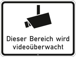 Hinweisschild 2842, Dieser Bereich wird videoüberwacht (Maße/Folie/Form:  <b>315x420mm</b>/RA1/Flachform 2mm (Art.Nr.: 2842-111))