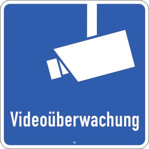 Hinweisschild 2844, Videoüberwachung (Maße/Folie/Form:  <b>420x420mm</b>/RA1/Flachform 2mm (Art.Nr.: 2844-111))